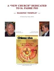 Satanic Temple to P. Pio - Chiesa viva