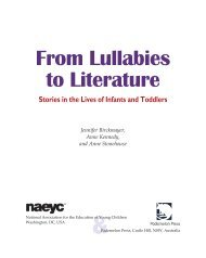 From Lullabies to Literature - National Association for the Education ...