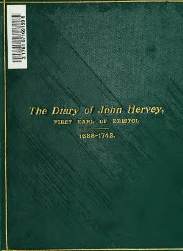 Diary, with extracts from his Book of Expenses, 1688 to 1742 - Index of