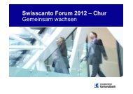 Swisscanto Forum 2012 MasterHO - Graubündner Kantonalbank