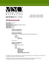 All Rachmaninoff - Milwaukee Symphony Orchestra