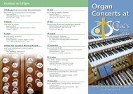 Organ Recitals - St Chad's Church