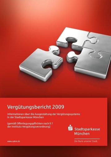 Vergütungsbericht 2009 - Stadtsparkasse München