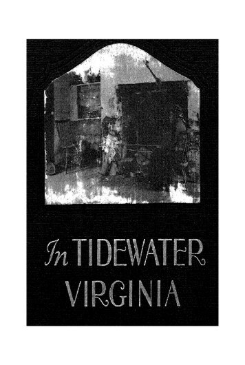 in tidewater virginia: book about the old homes - RootsWeb