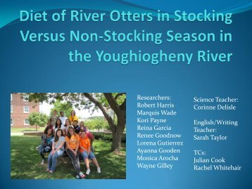 Otter Diets - Frostburg State University