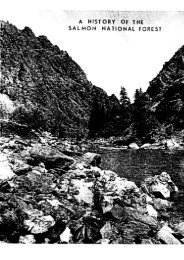 Salmon National Forest History - USDA Forest Service