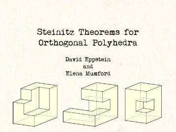 Steinitz Theorems for Orthogonal Polyhedra