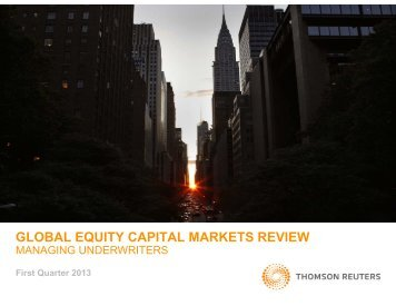 GLOBAL EQUITY CAPITAL MARKETS REVIEW