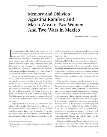 Agustina Ramírez and María Zavala: Two ... - Revistas - UNAM