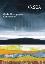 Gaelic Orthographic Conventions - Scottish Qualifications Authority