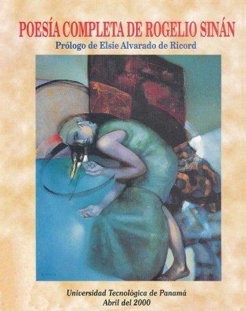 poesía completa de rogelio sinan - Biblioteca Virtual El Dorado