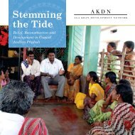 Stemming the Tide - Aga Khan Development Network