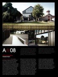 Architekturpreis Region Winterthur 2008 - BDE Architekten Gmbh