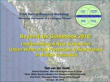 Beyond the Guidebook 2010: - Okanagan Basin Water Board