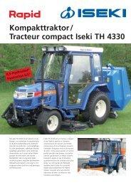 Kompakttraktor/ Tracteur compact Iseki TH 4330 - Rapid Technic AG