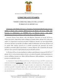 Comunicato stampa Report 2011 ago2012.pdf - Servizi per l ...