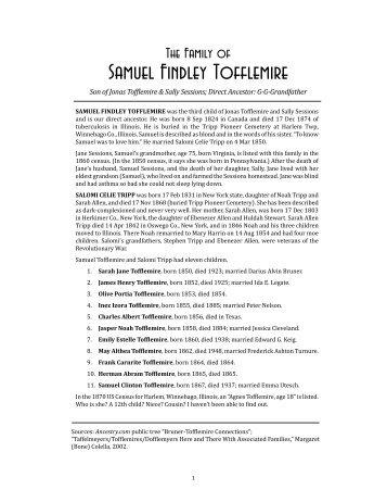 Samuel Findley Tofflemire - Home