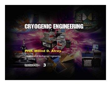 Properties of Cryogenic Fluids - nptel