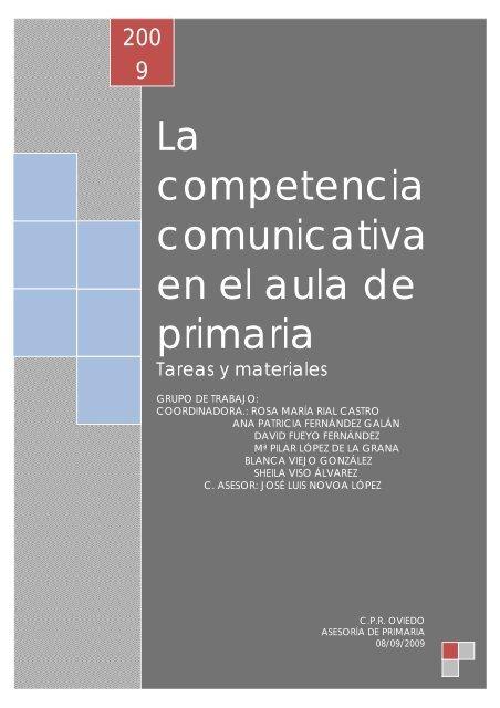 Competencia En Comunicacion Linguistica Propuesta De Trabajo