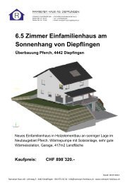 Baubeschrieb - Ramseyer Haus AG