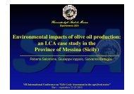 Environmental impacts of olive oil production - Università degli Studi ...