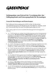 Stellungnahme zum Entwurf der Verordnung über den - ecopolitics