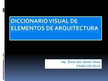 DICCIONARIO VISUAL DE ELEMENTOS DE ARQUITECTURA