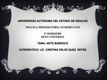 Arte Barroco - Universidad Autónoma del Estado de Hidalgo