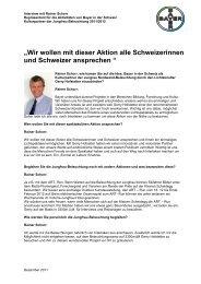 Wir wollen mit dieser Aktion alle Schweizerinnen und ... - Bayer
