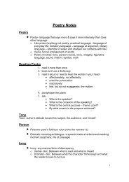 Poetry Notes - Laurens County School District 55