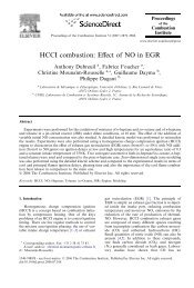 HCCI combustion: Effect of NO in EGR - Club ADEME International ...