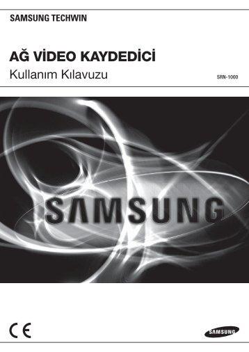 User Manual-SRN-1000_TURKISH_Web-.indb - Samsung Techwin ...