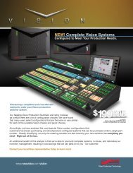 NEW! Complete Vision Systems - Ross Video