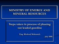 MINISTRY OF ENERGY AND MINERAL RESOURCES ... - UNEP