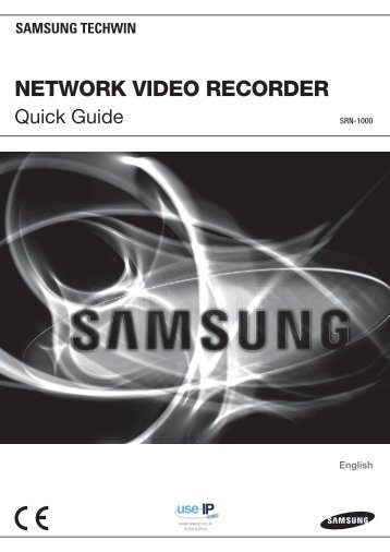Samsung SRN-1000 Quick Guide - Use-IP