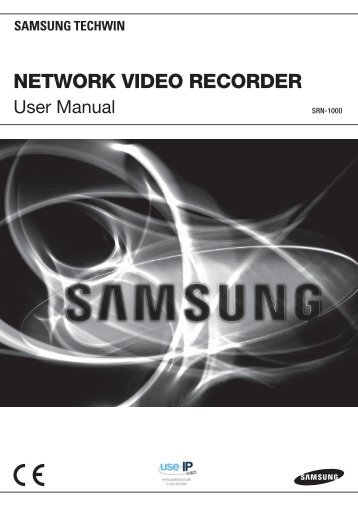 Samsung SRN-1000 Network Video Recorder User Manual - Use-IP
