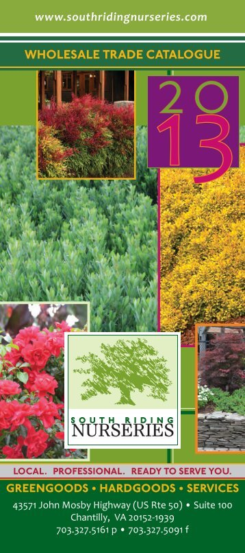 SRN Catalogue 2013 Cover FINAL.indd - South Riding Nurseries