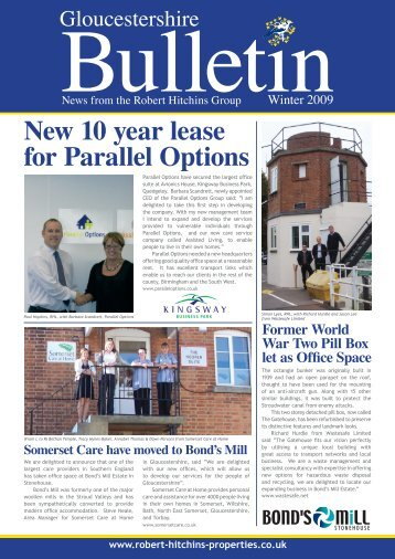 New 10 year lease for Parallel Options - Robert Hitchins Limited