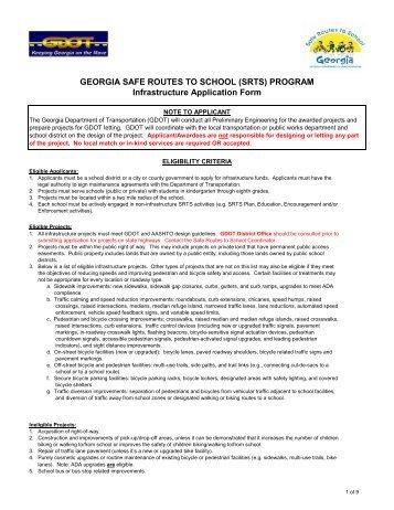 GEORGIA SAFE ROUTES TO SCHOOL (SRTS) - Heneghan Family ...