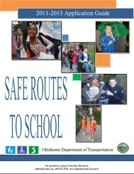 School Travel Plan - Oklahoma Department of Transportation