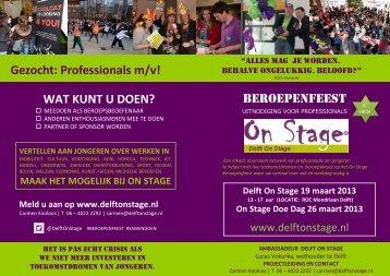 flyer Delft - Onderwijs On Stage
