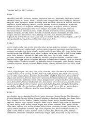 Champion Spelling List 19 - Spelling School