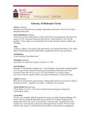 Glossary of Holocaust Terms - Tauber Holocaust Library