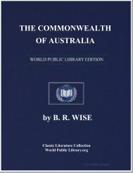 THE COMMONWEALTH OF AUSTRALIA - World eBook Library