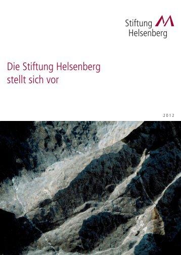 2012 - Die Stiftung Helsenberg stellt sich vor - Privatklinik Meiringen
