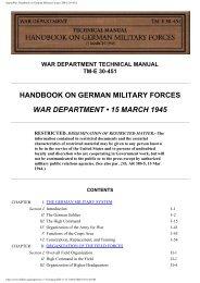 HyperWar: Handbook on German Military Forces ... - Nonstop Systems