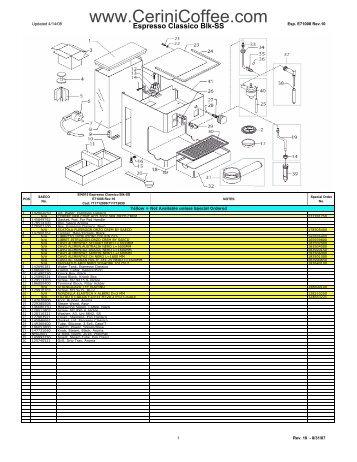 SIN015 Espresso Classico Blk-SS Rev 10, E71008 revised 2