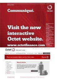 Visit the new Octet website. - Octet Finance