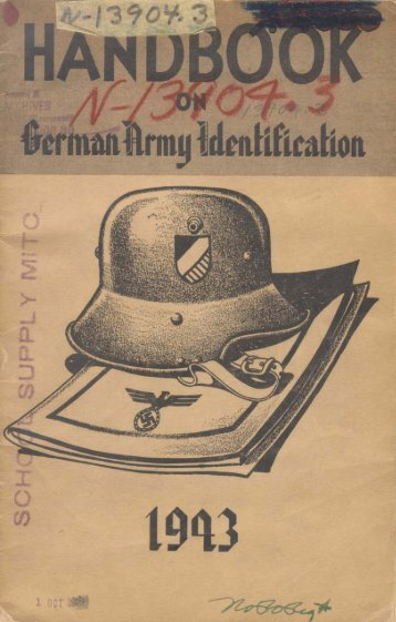Handbook on German Army Identification - All Gauge Page