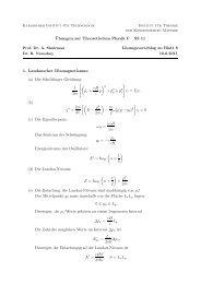 ¨Ubungen zur Theoretischen Physik F SS 11 ... - TKM